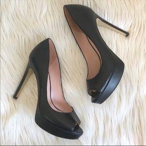 Enzo Angiolini Eaatina Black Peep Toe Heels